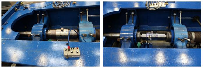 Set-up of standard cells for calibrating load frame