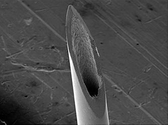 SEM image of hypodermic needle